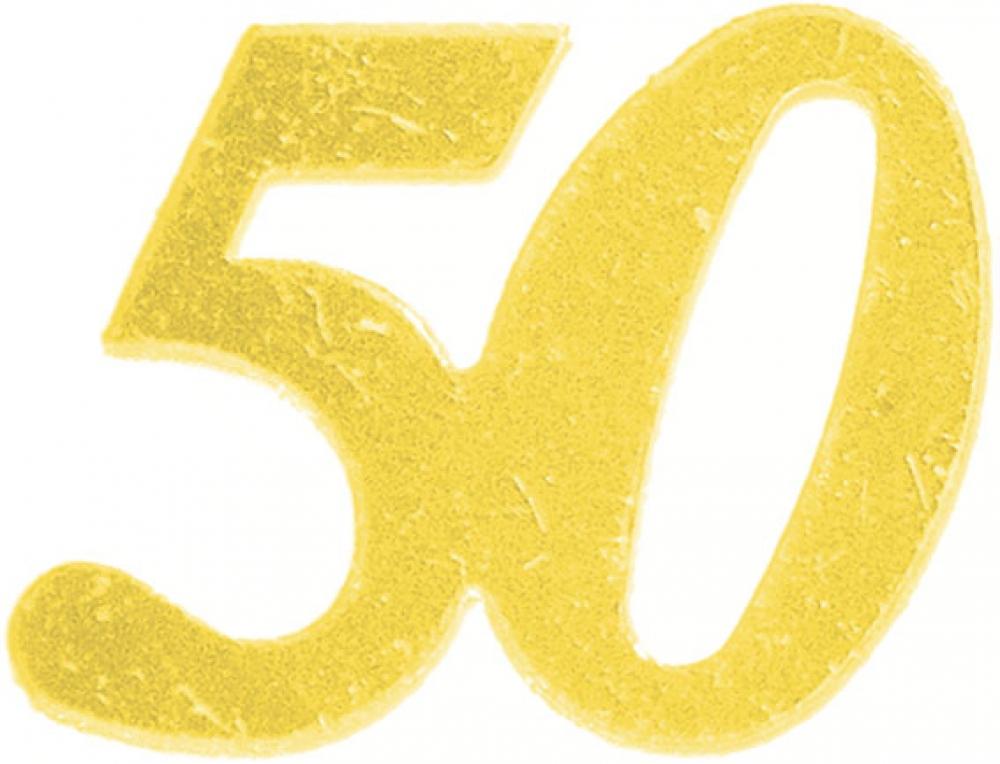 zahlen streudeko 50 gold metallic